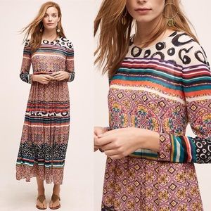 Anthropologie Donna Morgan Sierra Maxi Dress